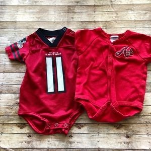 Atlanta Falcons/ Braves Short Sleeve Onesies